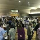 Poster Session at the Finley Auditorium (photo by Sarah Phillips)
